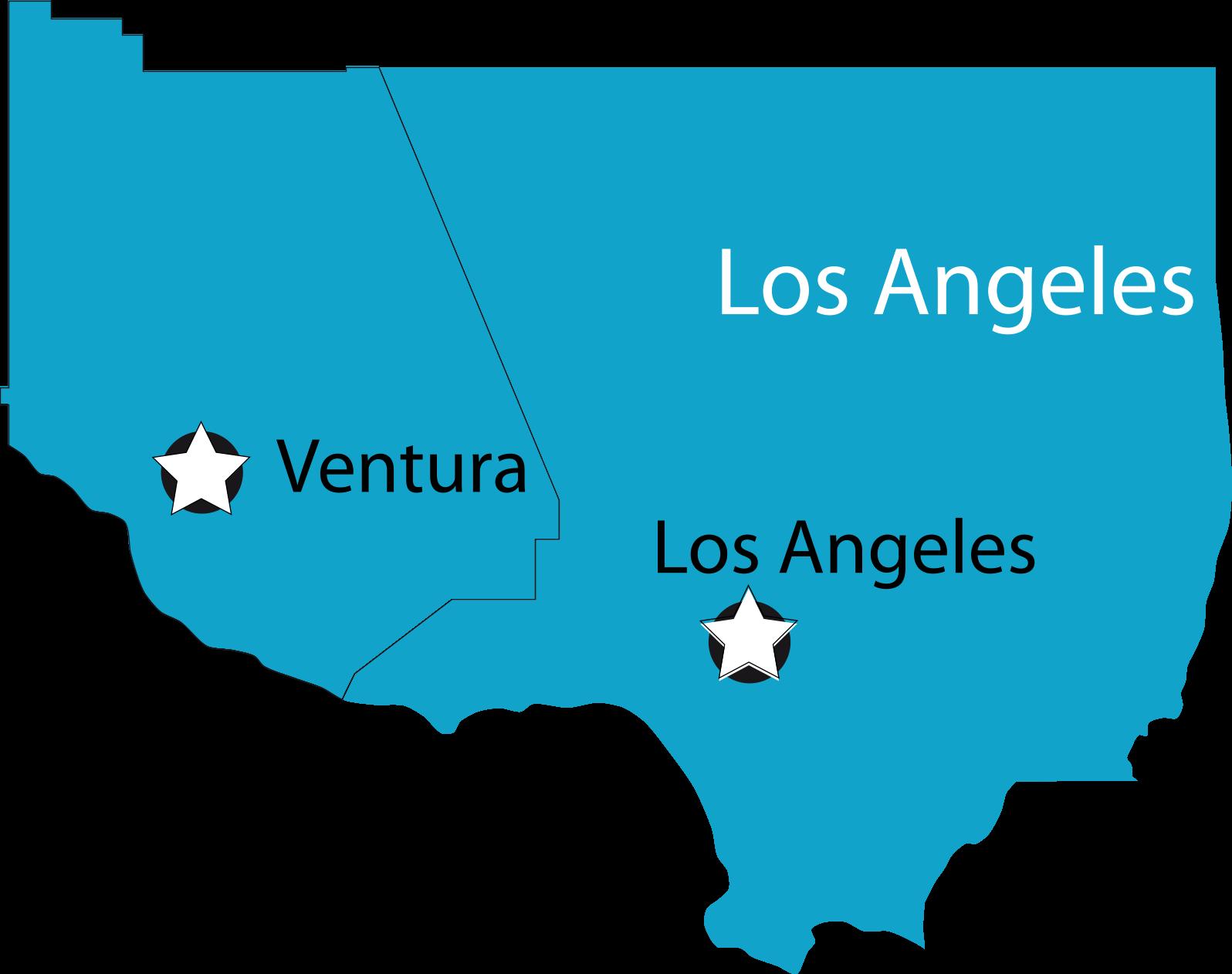 ventura and los angeles map