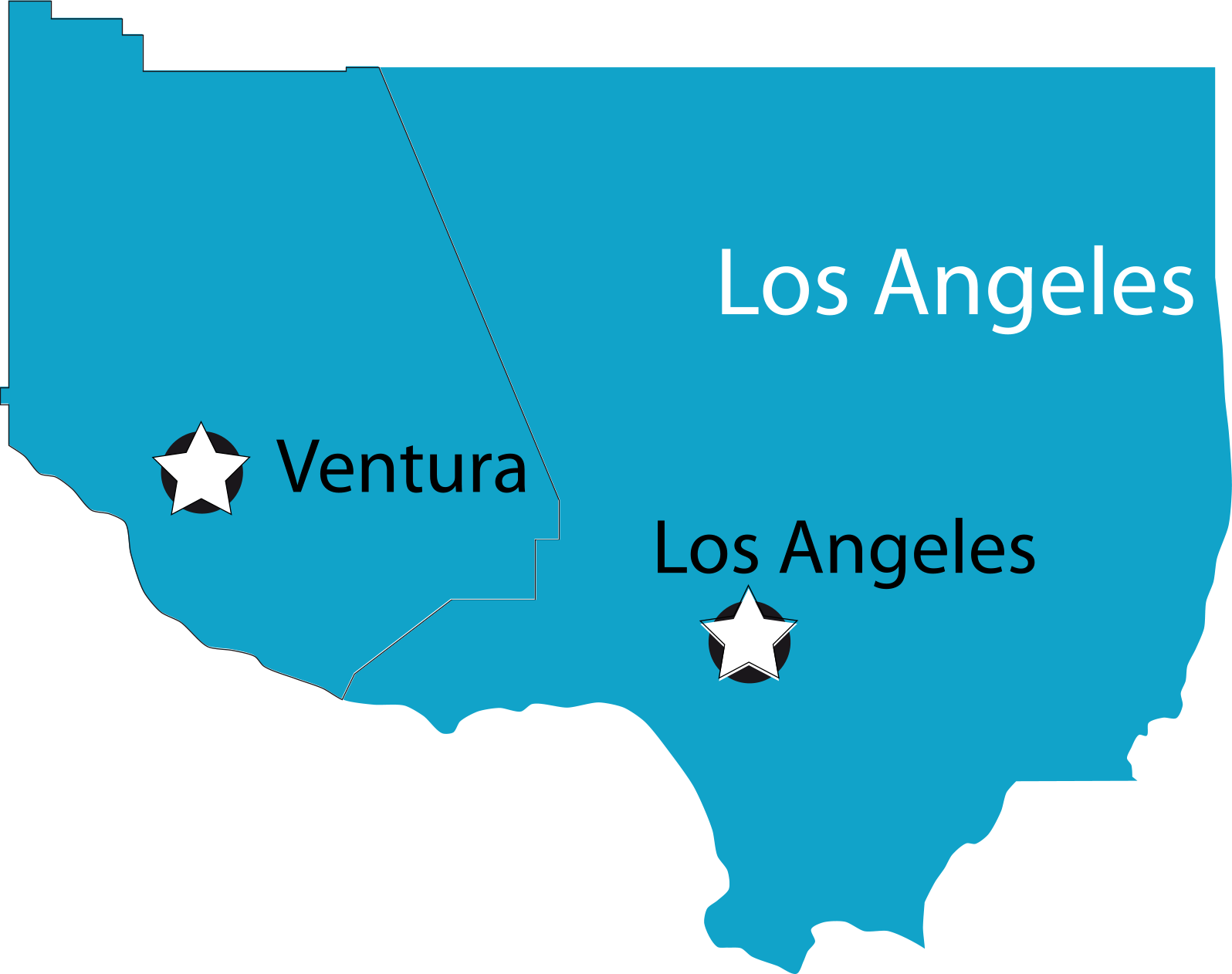 ventura and los angeles map